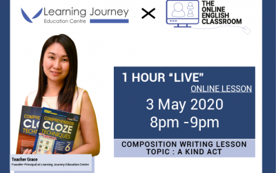 Free 1-hr Live Lesson On Composition Writing (Pri 3-6)