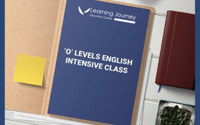 [SEC] O-Levels Intensive English Prep Classes